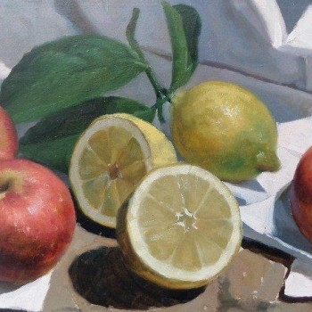 CACIAPUOTTI_Stilleven_met_citroenen_oil_on_panel_20x40cm